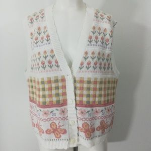 Vintage 80s 90s Sweater Vest Size M Cricket Lane